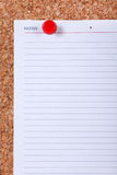 Blank Note Paper Macro Stock Images