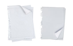 Blank note paper over white background Stock Images