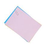 Blank note paper and paper-clip Royalty Free Stock Photo