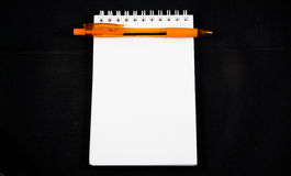 Blank note paper and pen isolated Stock Image