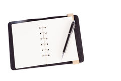 Blank note paper with pen Stock Photography