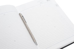 Blank note paper with pen Royalty Free Stock Photos