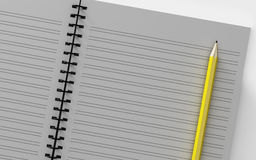 Blank note paper with pen.  on white. Royalty Free Stock Photography