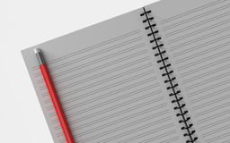 Blank note paper with pen.  on white. Royalty Free Stock Photo