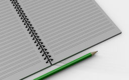 Blank note paper with pen.  on white. Royalty Free Stock Image