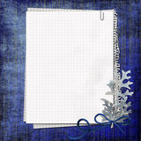 Blank note paper on textured background Royalty Free Stock Images