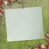 Blank note paper on textured background Stock Photo