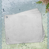 Blank note paper on textured background Royalty Free Stock Photography