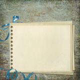 Blank note paper on textured background Stock Photography