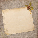 Blank note paper on textured background Royalty Free Stock Photos