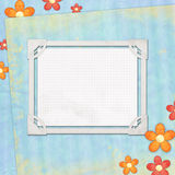 Blank note paper on textured background Royalty Free Stock Photo