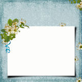 Blank note paper on textured background Stock Images