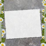 Blank note paper on textured background Stock Image