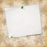 Blank note paper on  vintage background Royalty Free Stock Image