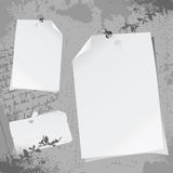 Blank note papers  Stock Images