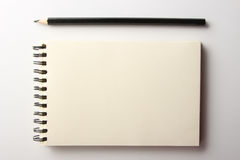 Blank Note With Pencil Stock Images