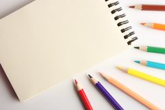 Blank Note With Pencils Royalty Free Stock Photography