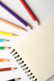 Blank Note With Pencils Royalty Free Stock Photos