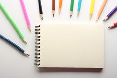 Blank Note With Pencils Stock Photography