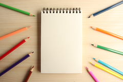 Blank Note With Pencils Royalty Free Stock Photo