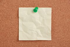 Blank Note Pinned On Cork Royalty Free Stock Image
