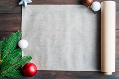 Blank note for recipes of christmas cakes. Preparation Gingerbre Royalty Free Stock Photography