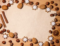 Blank note for repices. For baking cookies on christmas Stock Image
