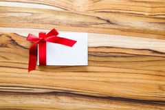 Blank note with a ribbon Royalty Free Stock Images