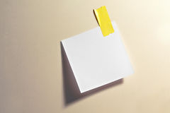 Blank note with tape Royalty Free Stock Photo