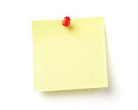 Blank note on white with clipping path Royalty Free Stock Images