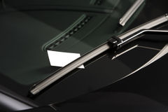 Blank note on windshield Royalty Free Stock Photo