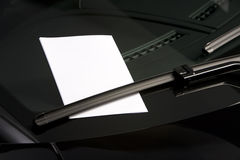 Blank note on windshield Stock Photos