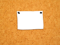 Blank note1 Stock Images