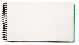 Blank Notebook. Open blank notebook on a white background Royalty Free Stock Photography
