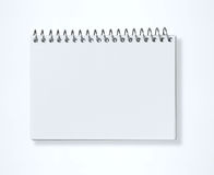 BLANK NOTEBOOK. ISOLATED ON WHITE Stock Image