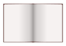 Blank notebook. On white background. You can put your message on it Royalty Free Stock Image