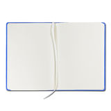 Blank notebook. On white background Stock Photos
