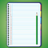 Blank notebook. With pencil by illustrations Stock Photo