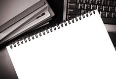 Blank notebook Stock Images