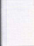 Blank notebook. Black notebook with squares to write in Royalty Free Stock Photos