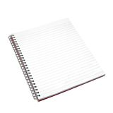 Blank notebook. Stock Photo