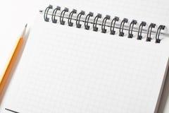 Blank notebook background Stock Image