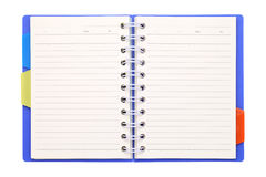 Blank notebook with bookmark. Blank notebook with isolated on white background Royalty Free Stock Photography