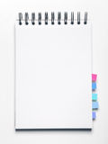 Blank notebook with bookmarks Royalty Free Stock Photo