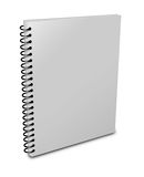 Blank notebook. Cover over white background Stock Image