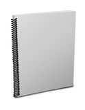 Blank notebook. Cover over white background Royalty Free Stock Photography