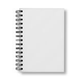 Blank notebook cover on white background Stock Image