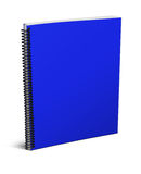 Blank notebook. 3d blank notebook cover  on white background Stock Photo