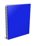 Blank notebook. 3d blank notebook cover  on white background Stock Photography