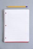 Blank notebook on desk Royalty Free Stock Photo